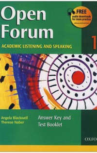 Open Forum 1 Student Book with Test Booklet & CD